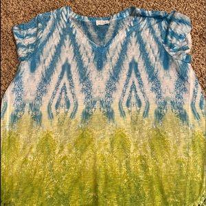 Time & Tru XL Blouse w/ lace detail.